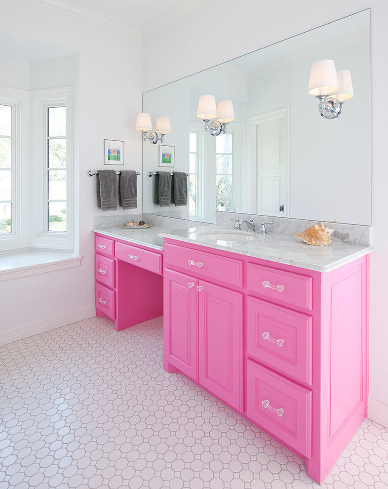 Beauty Bathroom Cabinet Pink Color (Image 1 of 5)