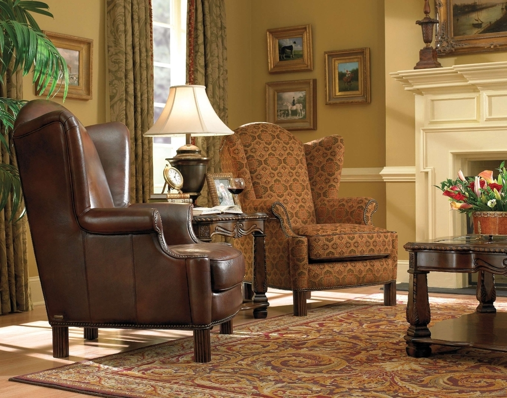 Antique Leather Chairs For Classic Look (Image 1 of 27)