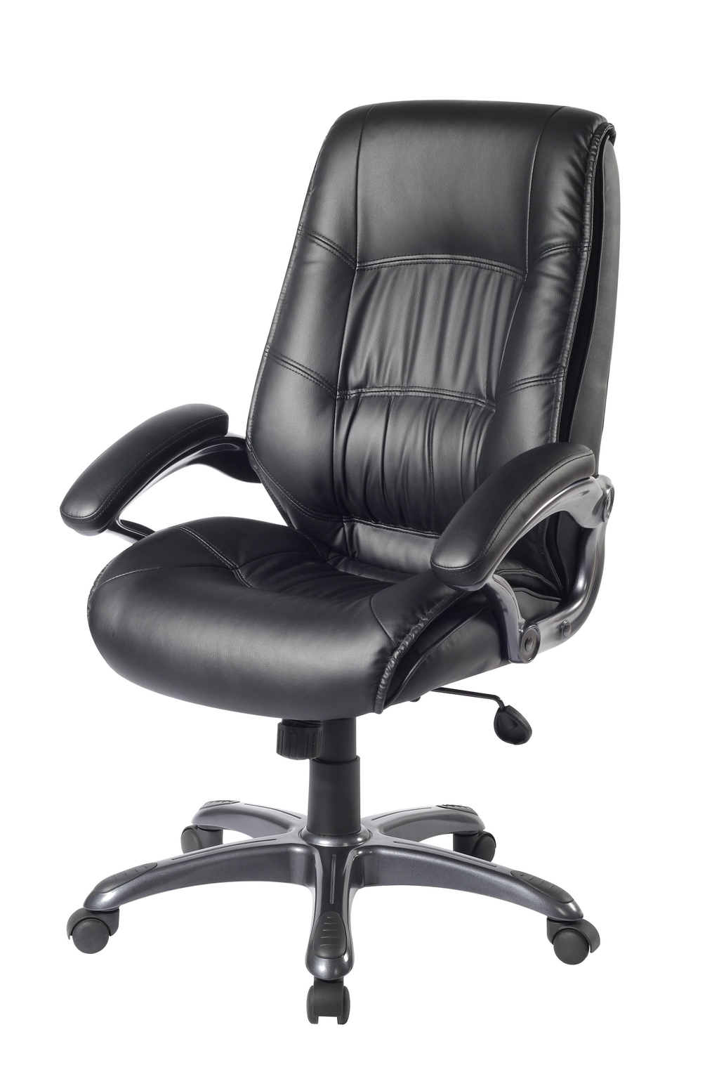 Black Leather Office Chairs (Image 4 of 27)