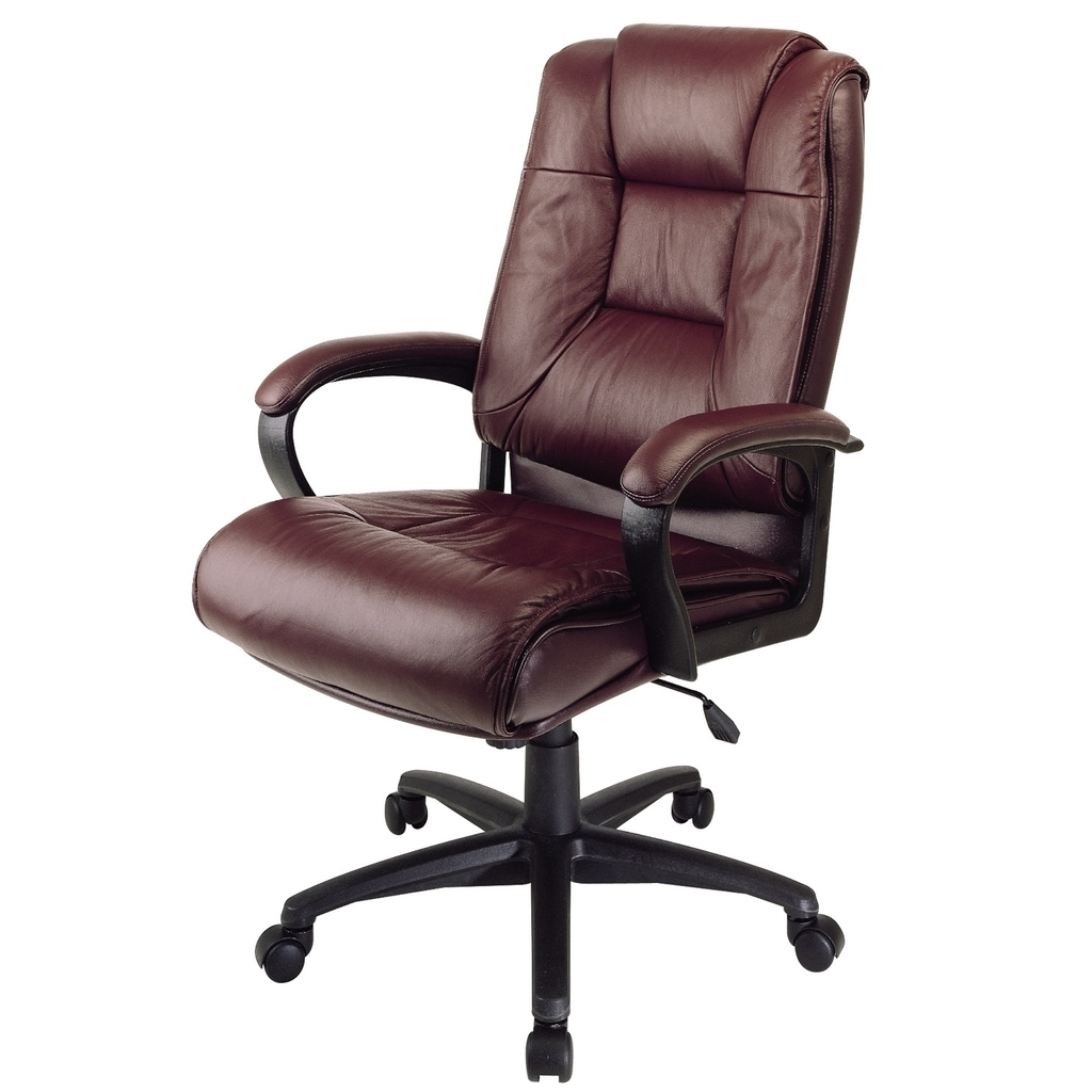 Burgundy Leather Office Chairs (Image 6 of 27)
