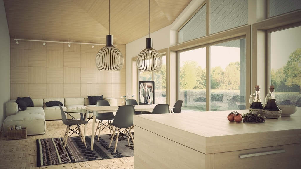 Contemporary Pendant Lighting For Open Space Dining Room (Image 5 of 10)
