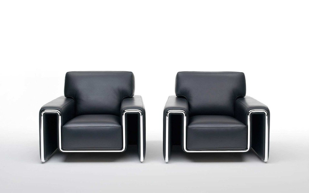 Contemporary Single Leather Chairs (Image 10 of 27)
