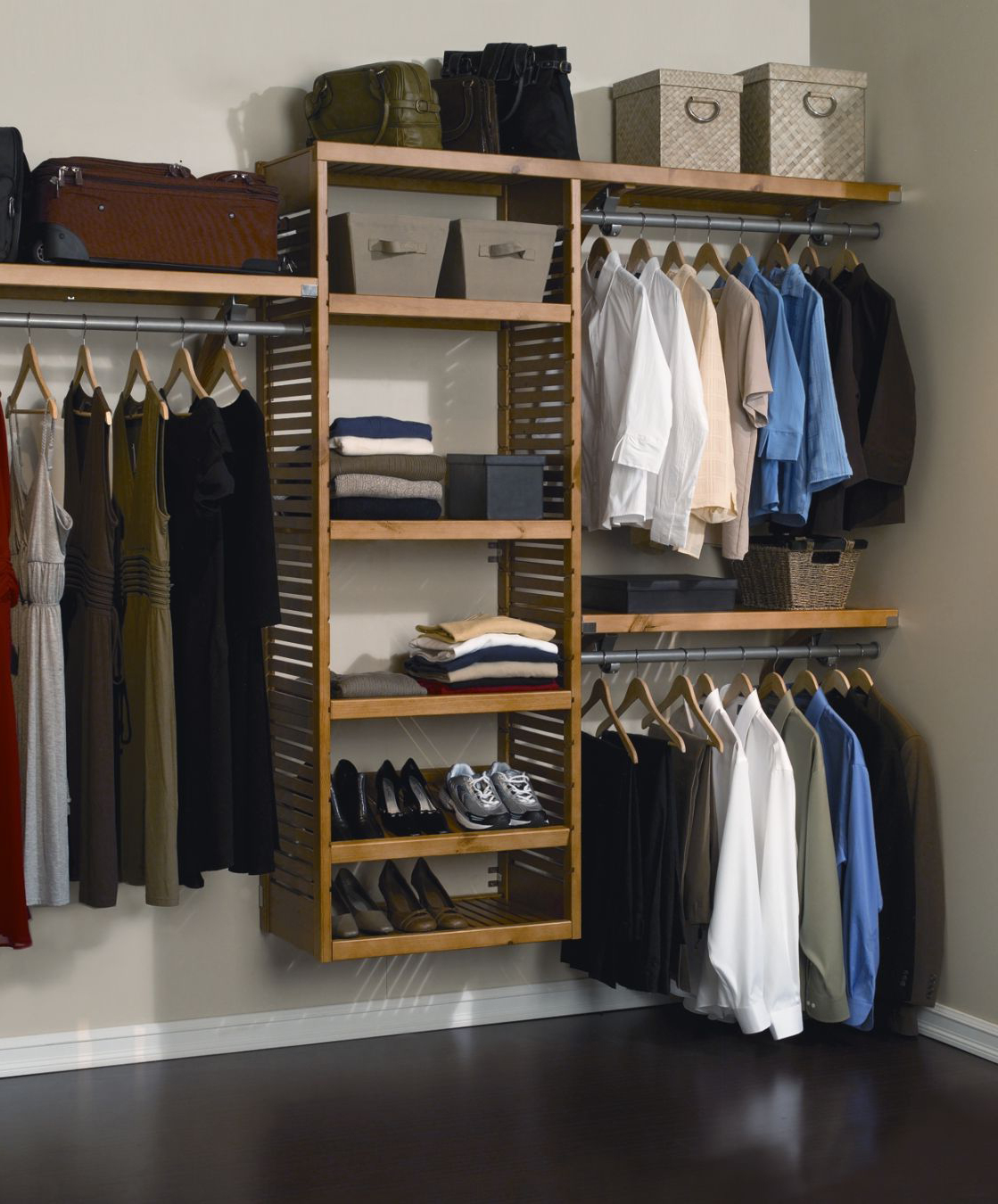 Wonderful image of Latest Closet Shelving Ideas 2014 #23 House Decor Tips with #415F8A color and 1119x1350 pixels