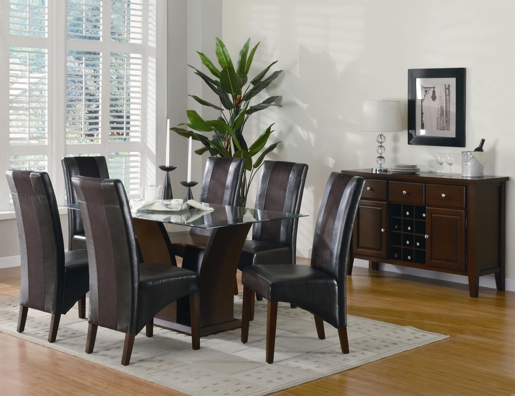 Elegance Leather Chairs Set For Dining Room (Image 13 of 27)
