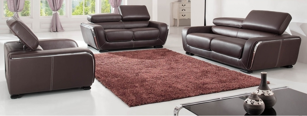Leather Sofa For Modern Living Room (Image 22 of 27)