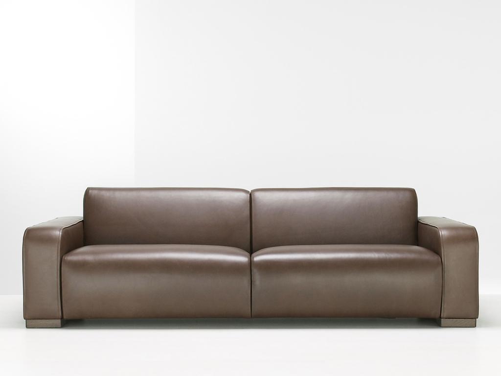 Minimalist Leather Sofa (Image 24 of 27)
