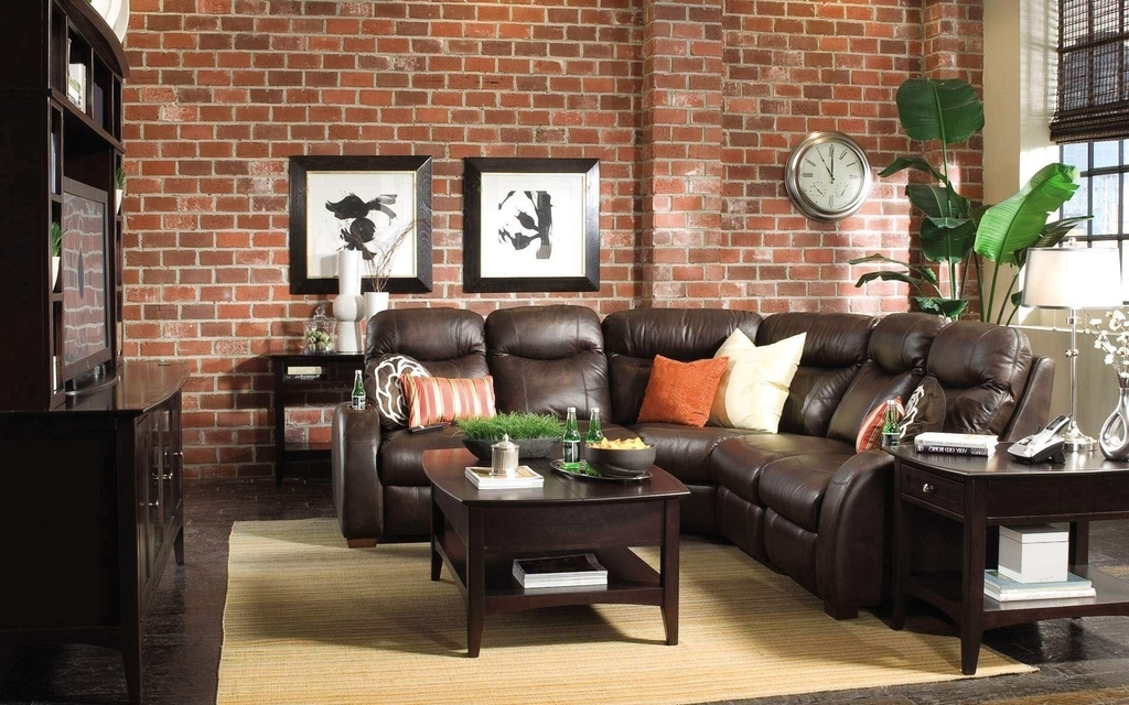 Traditional Brown Leather Sofa For Living Room (Image 26 of 27)