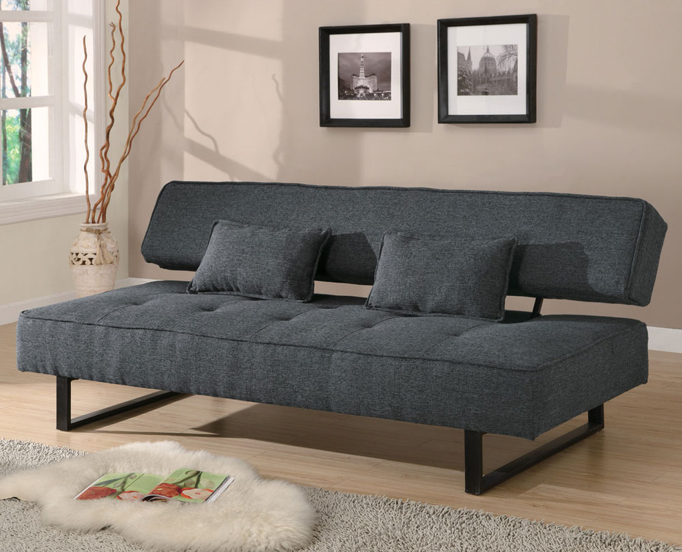 Black Sofa Bed Contemporary (Image 1 of 11)