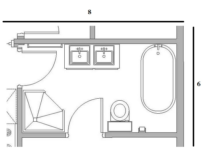 9 x 6 bathroom layout bathroom drawing 6x8 home design idea for Bathroom design 6 x 6
