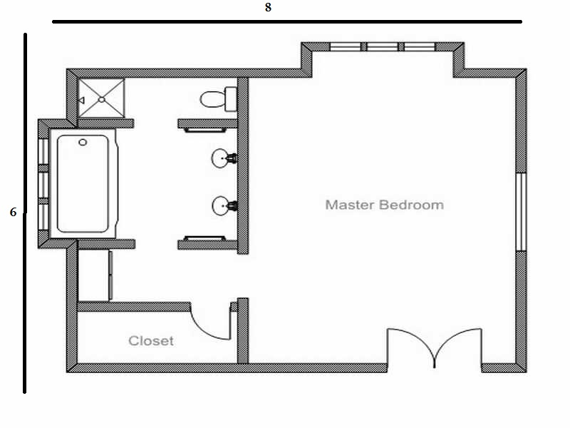6×8 Bathroom Layout Design Plan (View 2 of 12)