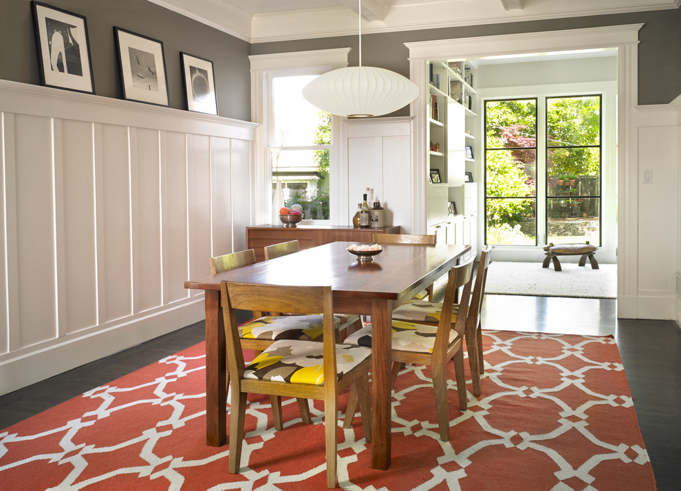Amazing Dining Room Furniture With Cozy Carpet (Image 1 of 7)