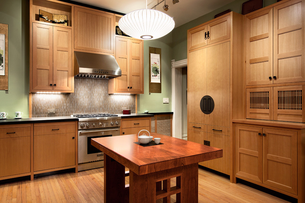 Kitchen asian contemporary kitchen cabinets 2 of 10 photos for Asian kitchen cabinets design