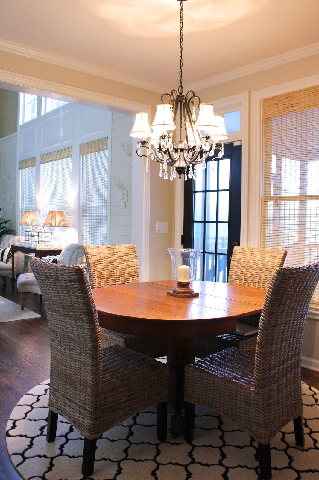 Bamboo Dining Room Chairs And Wood Table (Image 2 of 7)