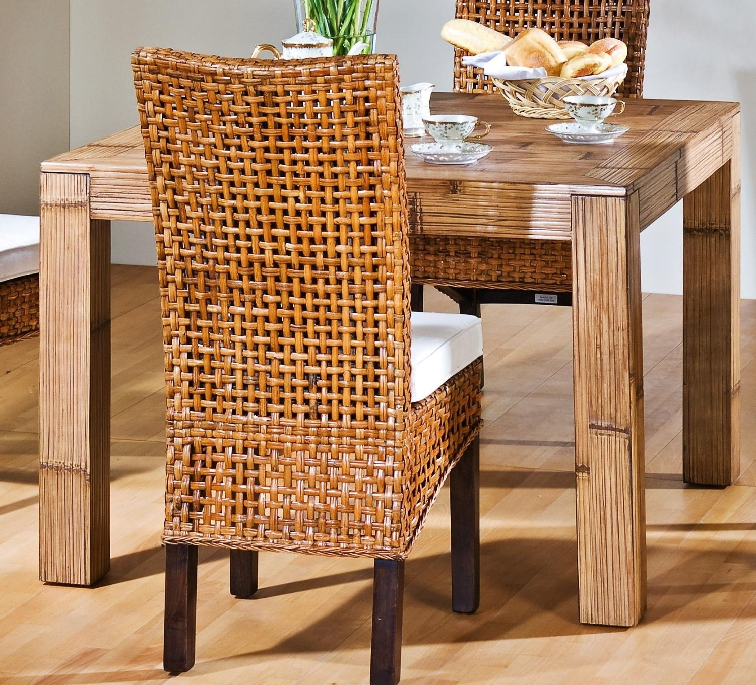 Bamboo Table And Chairs Furniture For Dining Room 857