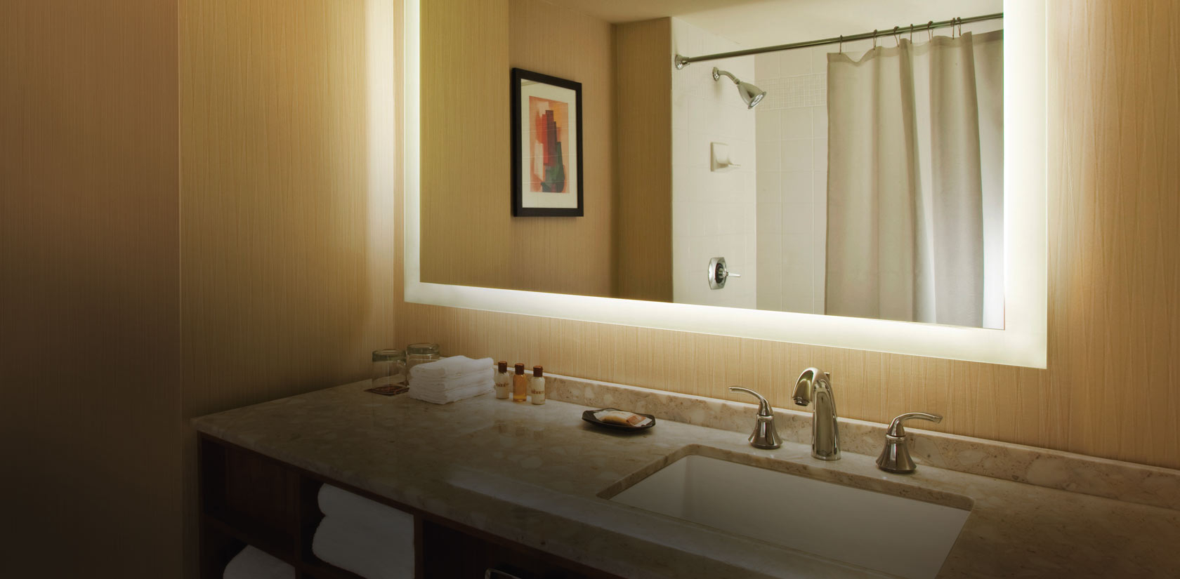 Best Back Lighted Modern Bathroom Mirrors (Image 2 of 16)