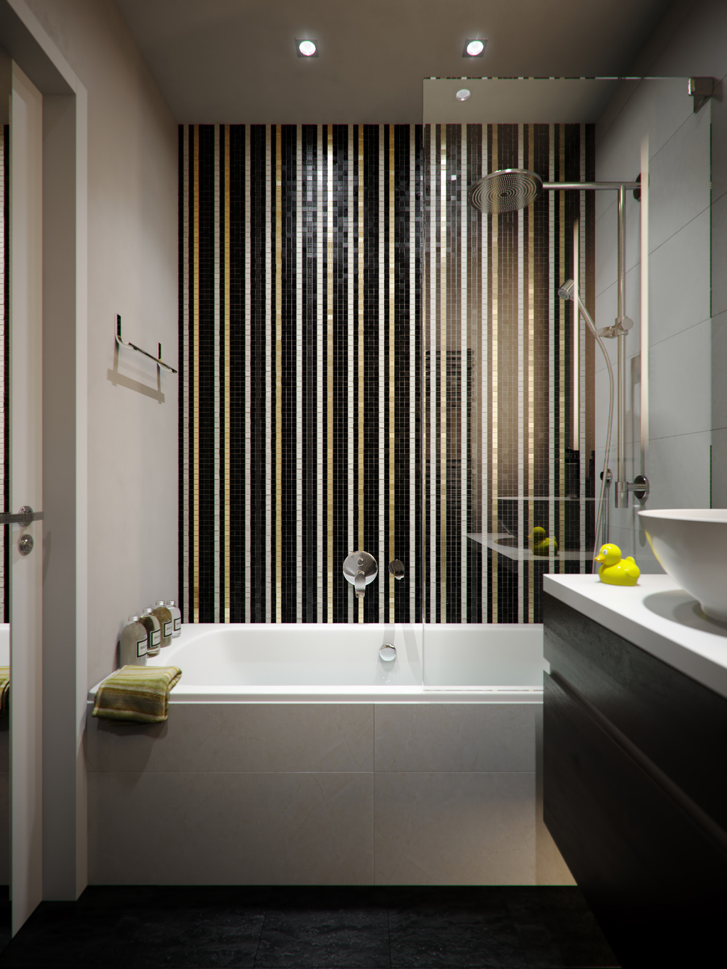 6 8 bathroom design furniture and color for small space - Luxury bathrooms in small spaces ...