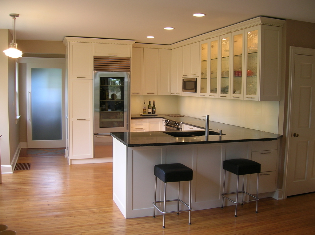Black Kitchen Countertops With White Cabinets Ideas (View 6 of 12)