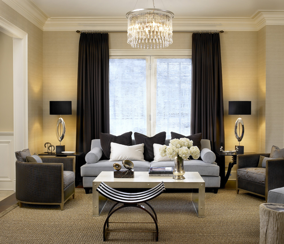 Chic Contemporary Living Room Crystal Chandelier (Image 1 Of 13) Part 59