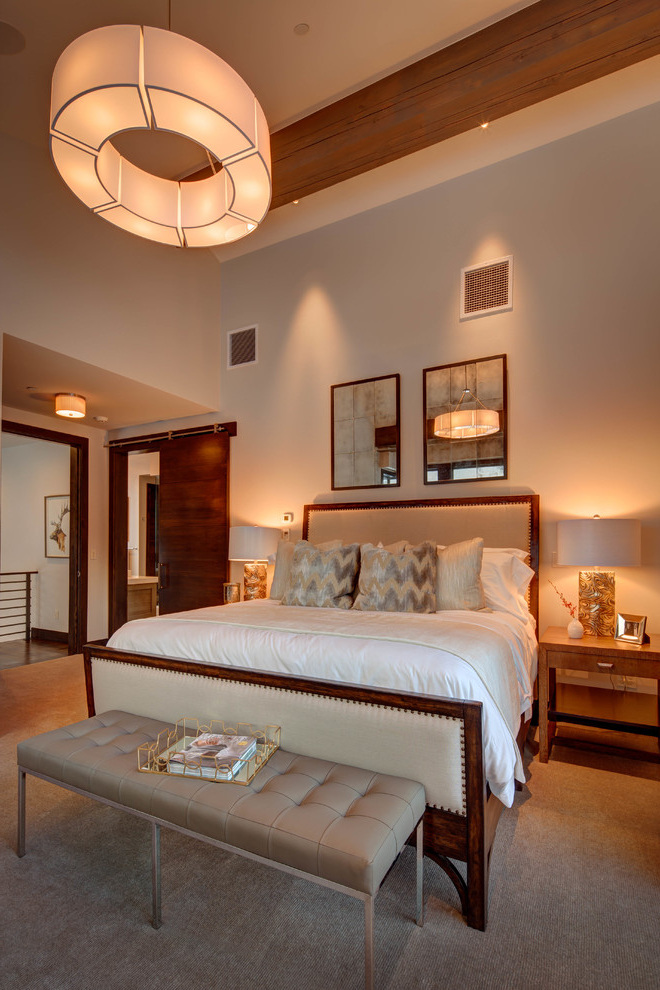 Classy Bedroom Contemporary Lighting And Furniture Decor (Image 3 of 8)