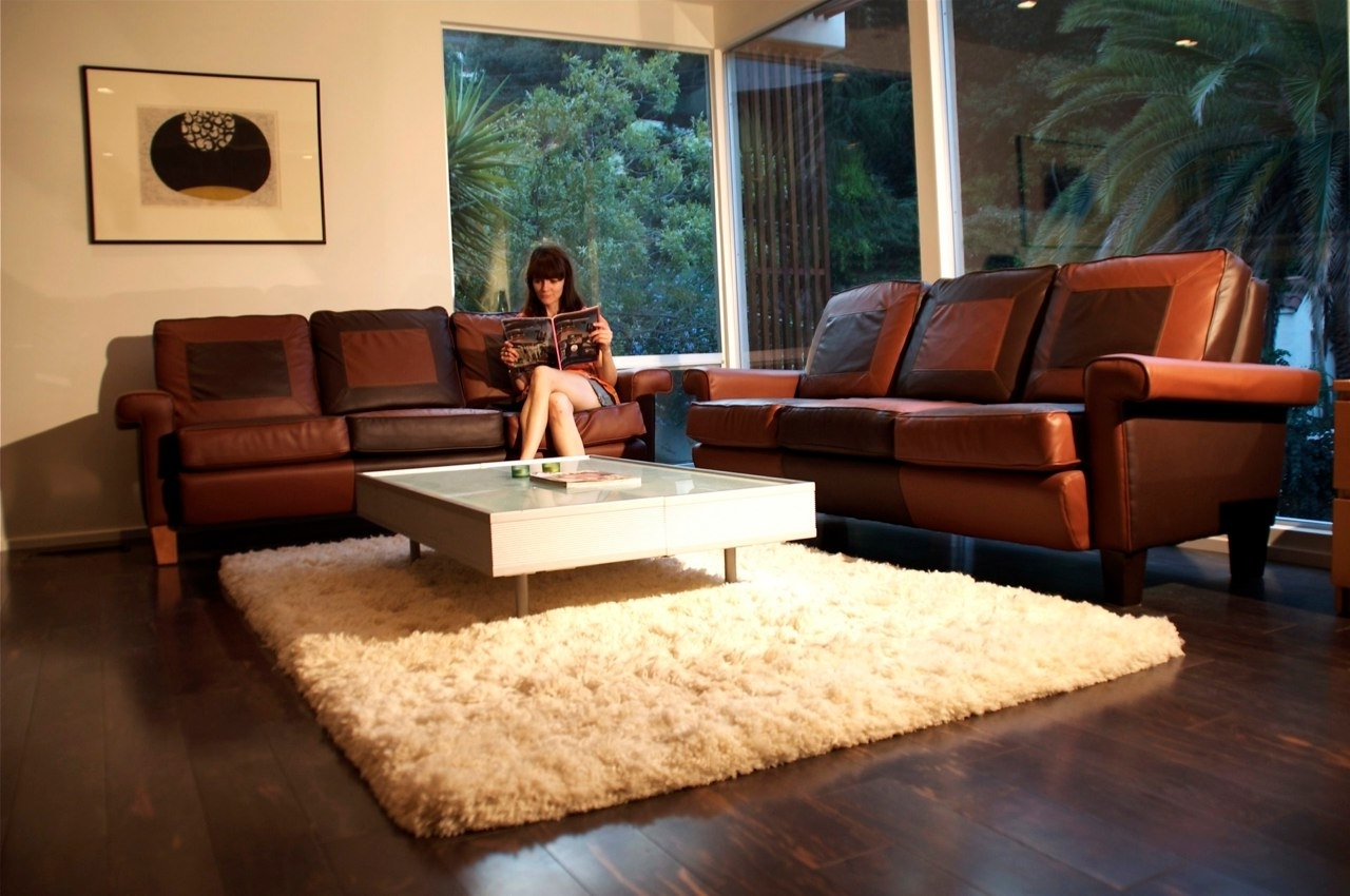 Clearance Brown Leather Sofa (Image 8 of 17)