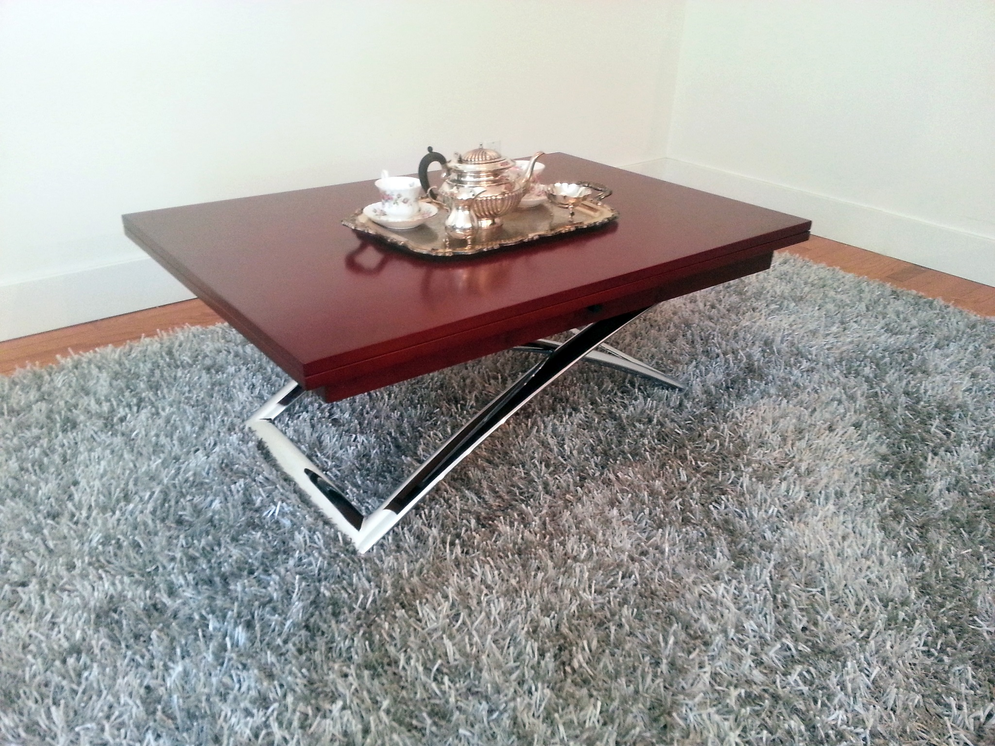 Contemporary Adjustable Height Folding Coffee Table (Image 2 of 20)