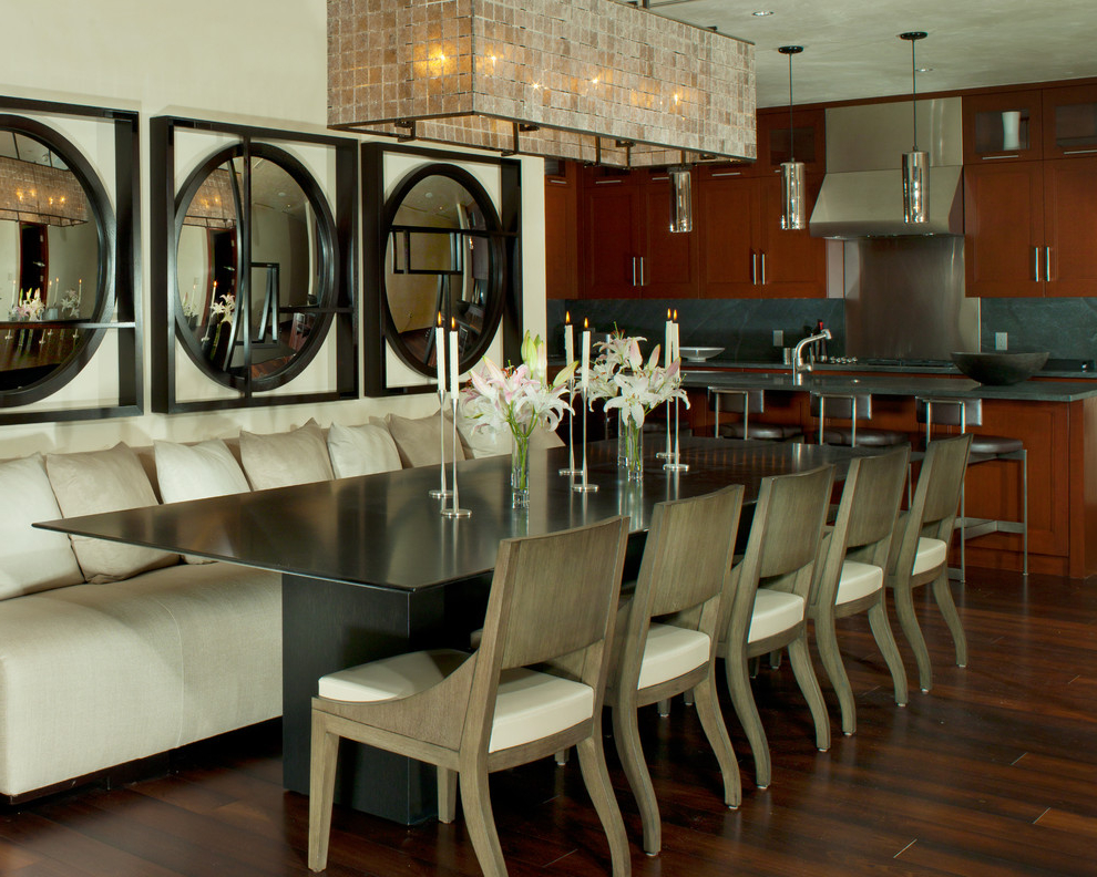 Contemporary Dining Room Architecture (Image 2 of 7)