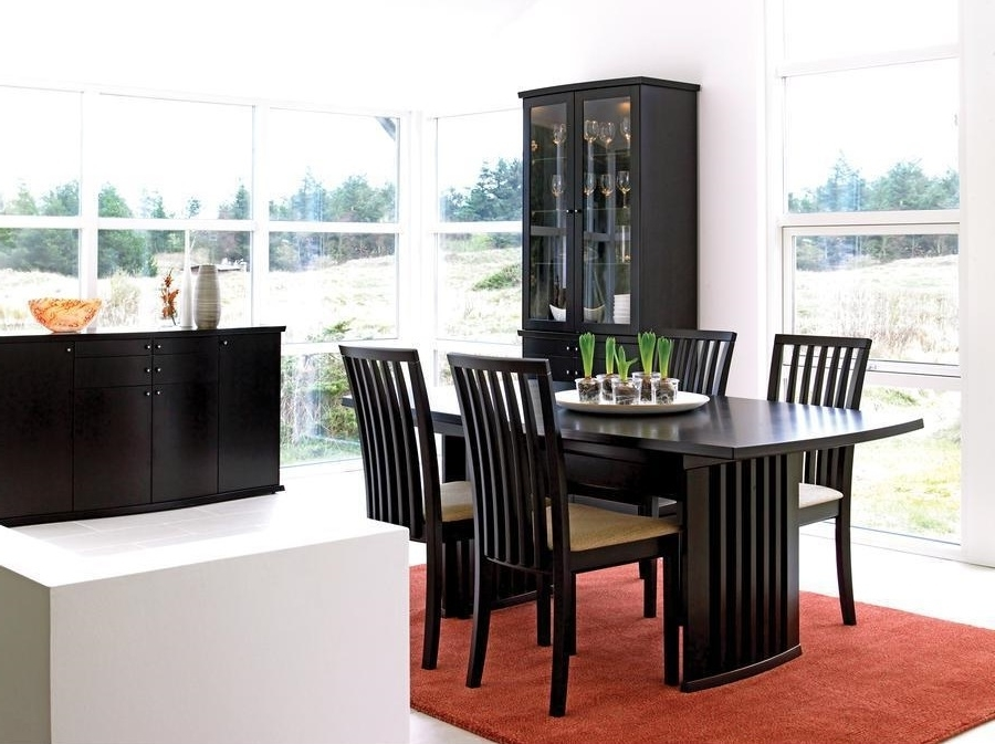 Contemporary Dining Room Sets With China Cabinet Image 5 Of 10