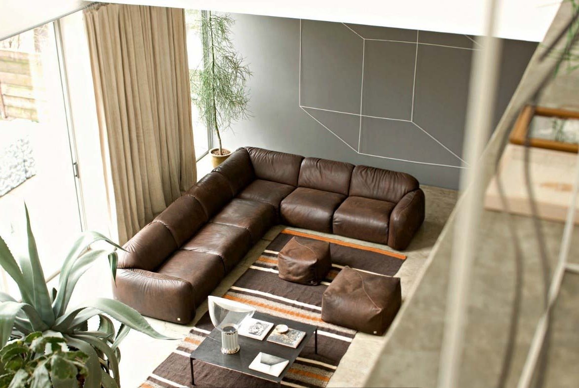 Contemporary Leather Sleeper Sofa Queen  (Image 9 of 17)