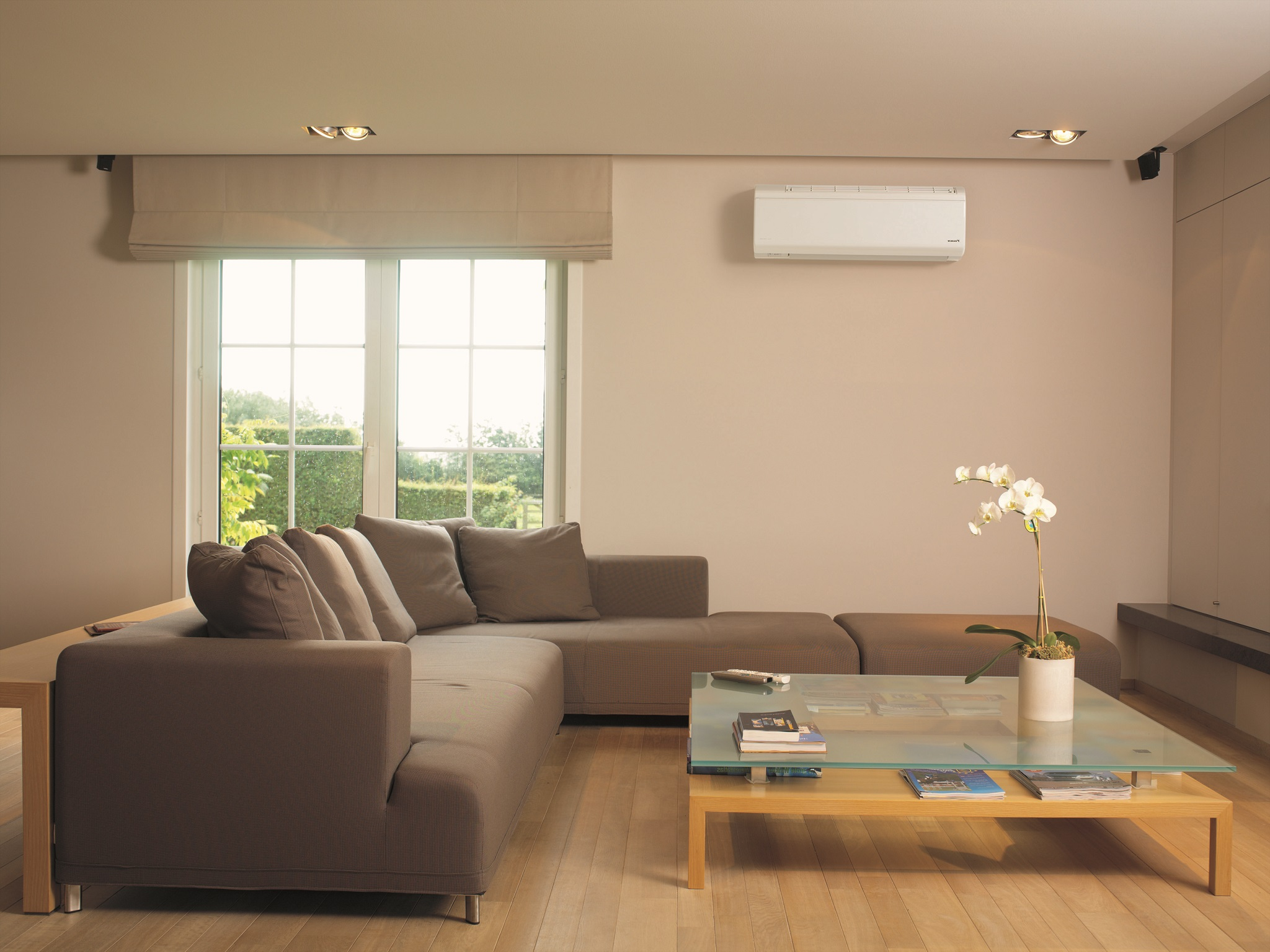 Contemporary Living Room Air Conditioner Placement (Image 8 of 19)