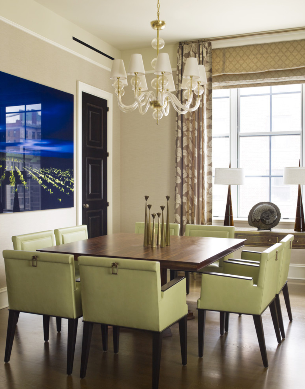 Contemporary Mosaic Dining Room (Image 1 of 6)