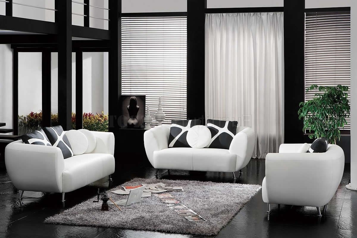 Contemporary Sofa Pillows In Black White Sofa Theme (Image 4 of 20)