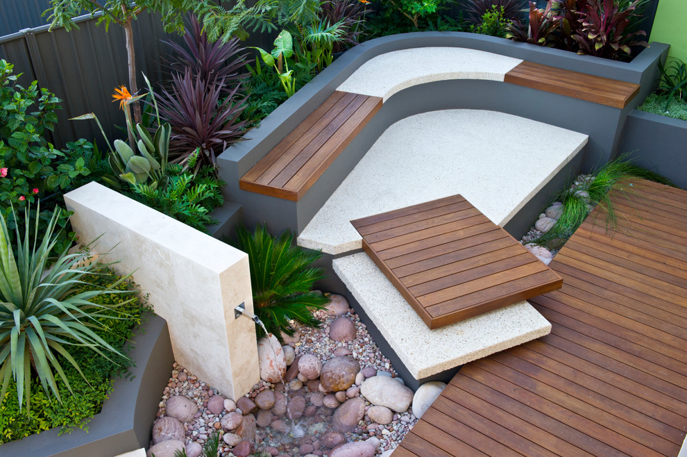 Contemporary Tropical Backyard Design (View 2 of 8)