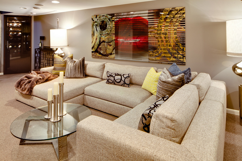 Cool Fabric Living Room In Contemporary Design (Photo 1 of 10)
