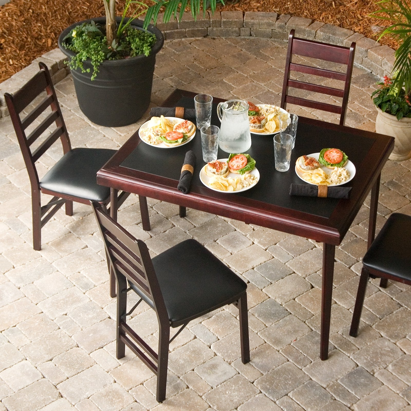 Cosco Fold Up Outdoor Patio Table (Image 4 of 20)