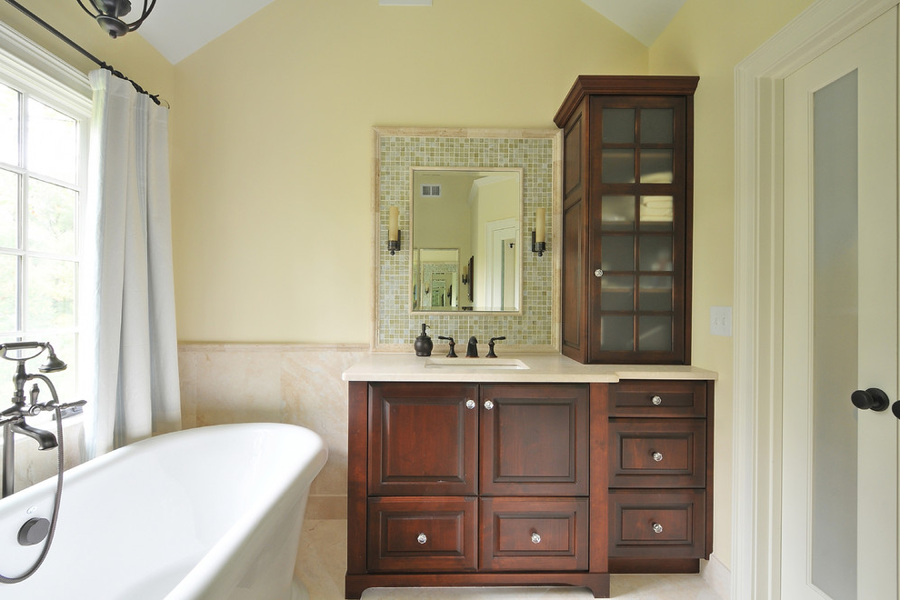 Country Style Bathroom Vanity Cabinet (Image 2 of 8)
