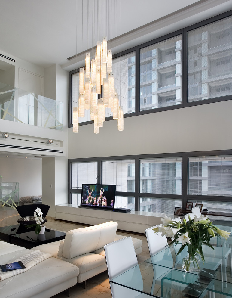 creative living room chandelier in contemporary design