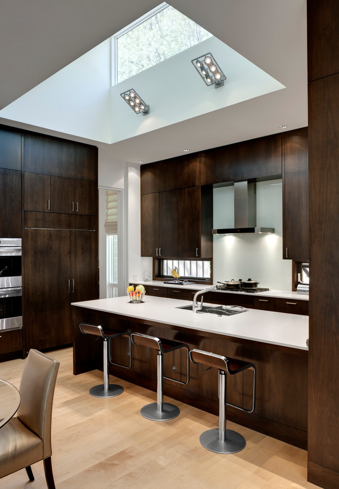 Dark Brown Kitchen Cabinet In Modern Design (View 6 of 13)