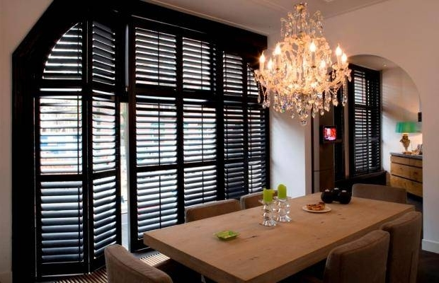 Dark Color For Wooden Window Shutters For New Look (Image 3 of 7)