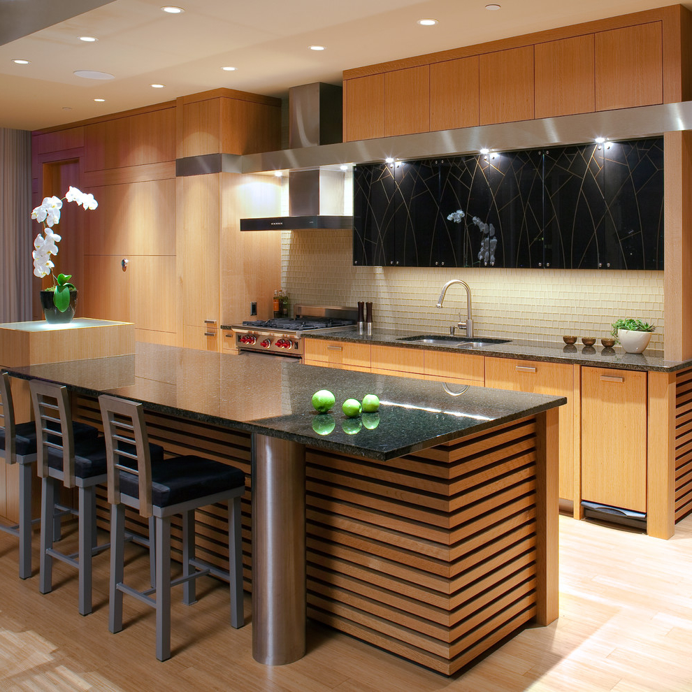 Asian Contemporary Kitchen Cabinets 855 Kitchen Ideas