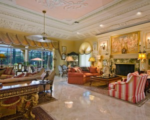 Deluxe Marble Flooring for Victorian Living Room