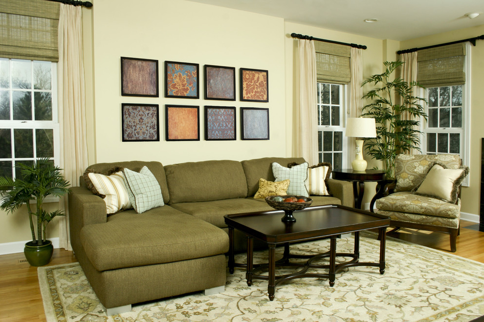 Fabric Living Room Remodel And Wall Decoration (Image 7 of 10)