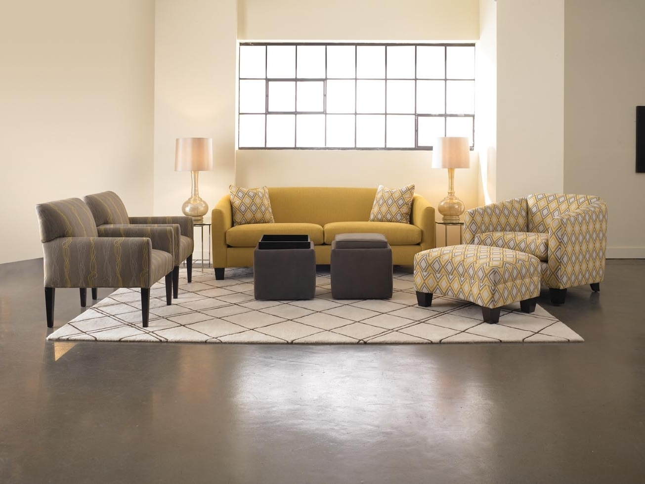 Fabric Living Room Sofa And Carpet Modern Furniture Set (Image 8 of 10)