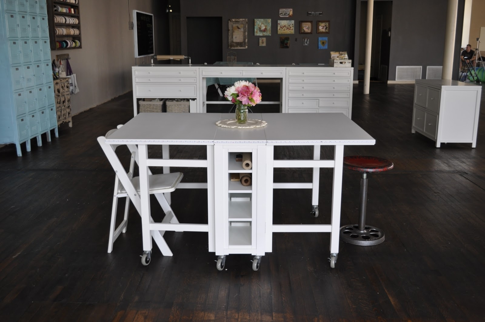 Folding Table White For Dining Room (Image 7 of 20)