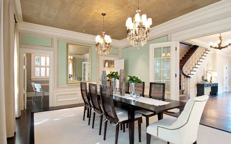 Formal Dining Room Decor In Contemporary Style (Image 14 of 30)