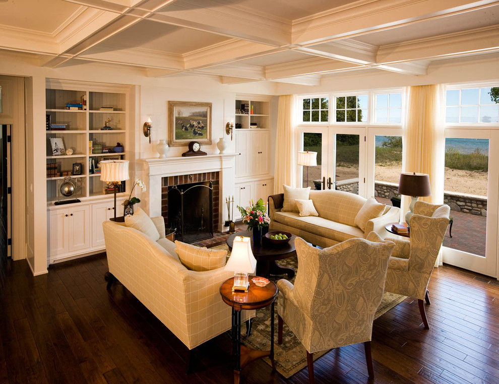 Formal Fabric Living Room In Traditional Design (Image 9 of 10)
