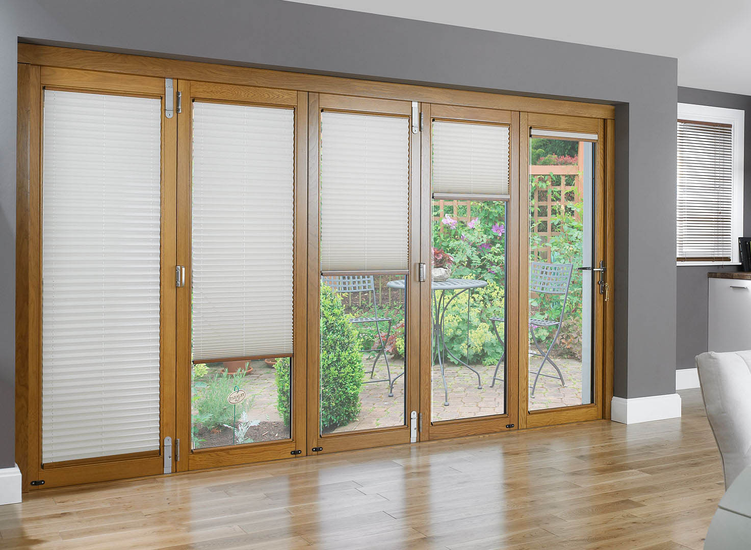 French Door Blinds (Image 3 of 8)
