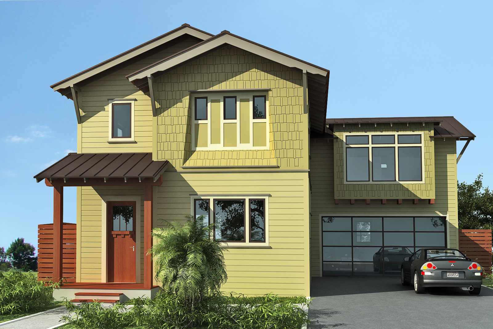 yellow exterior house paint - crewsing - modern house