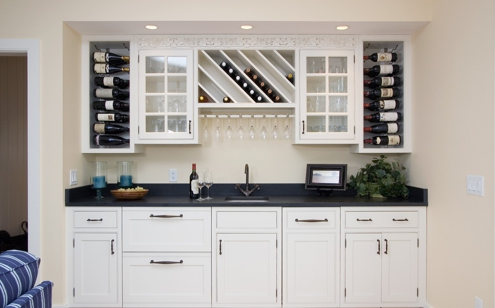 Kitchen Cabinet Makeover To Wine Storage Rack