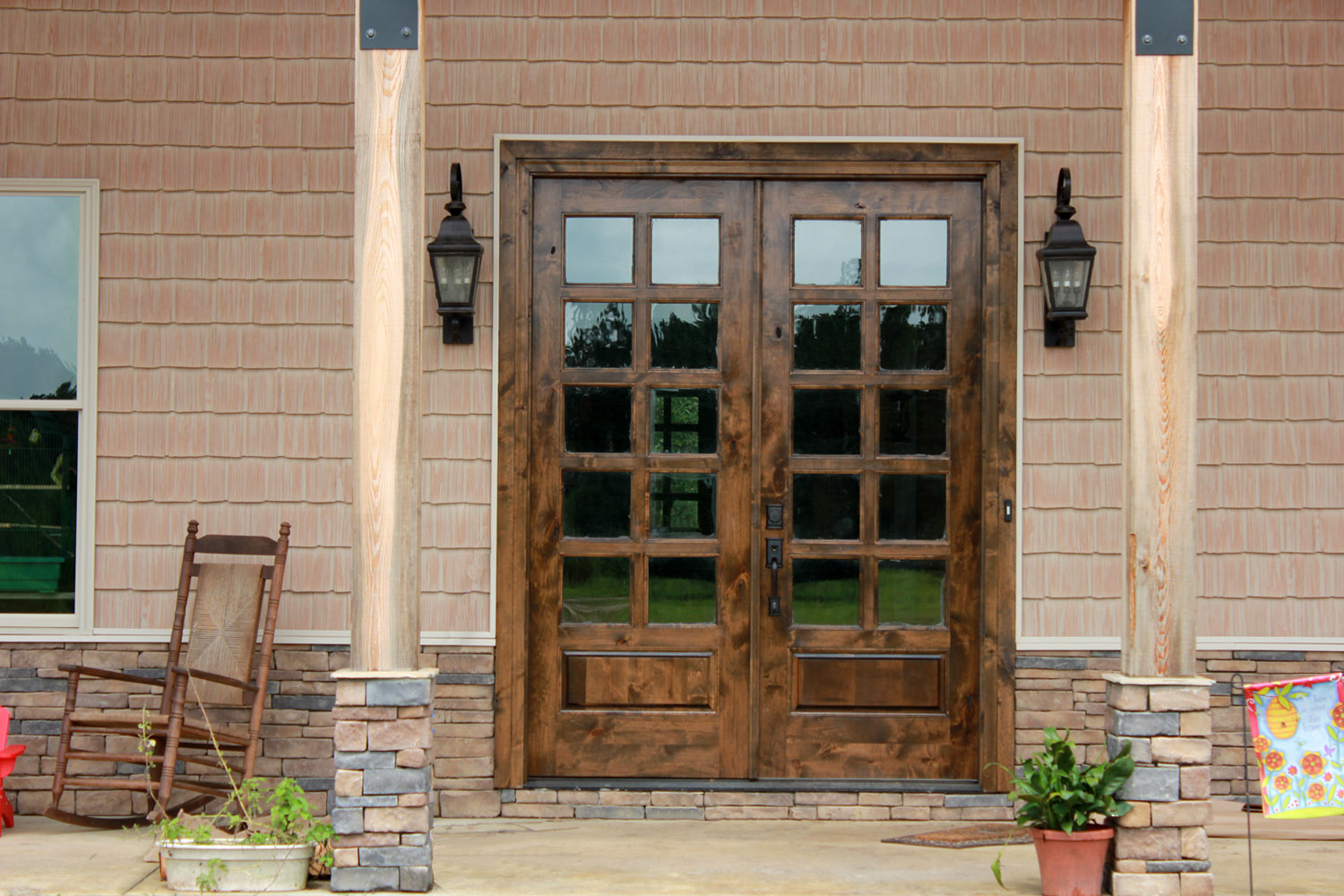 Knotty Alder French Doors (Image 6 of 8)