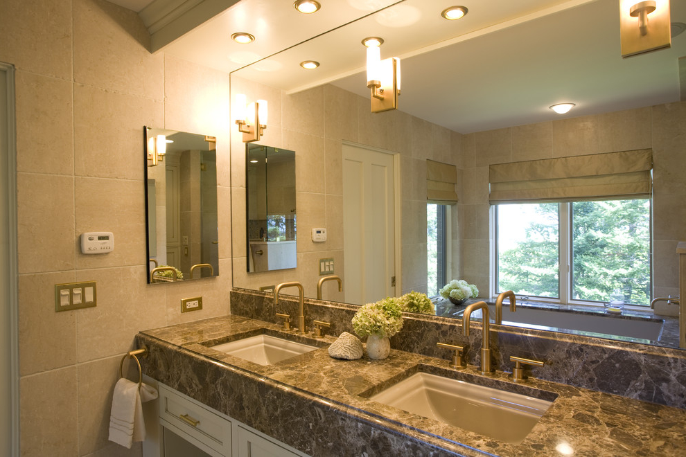 Large Modern Bathroom Vanity Mirrors And Lighting Ideas (Image 10 of 16)